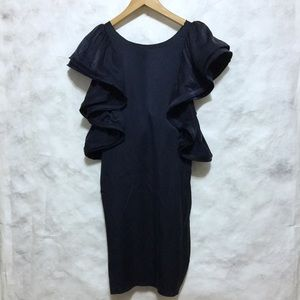Lanvin for H&M blue ruffled sleeves dress XS 💐